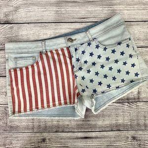 No boundaries Stars and Stripes jean shorts